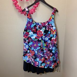 Azul by Maxine of Hollywood One Piece Swim Suit